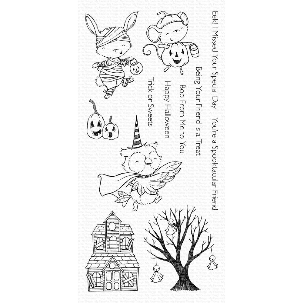My Favorite Things SPOOKTACULAR FRIENDS Clear Stamps SY12 zoom image