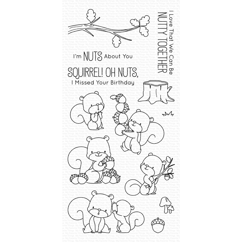 My Favorite Things SQUIRREL! Clear Stamps BB75 zoom image