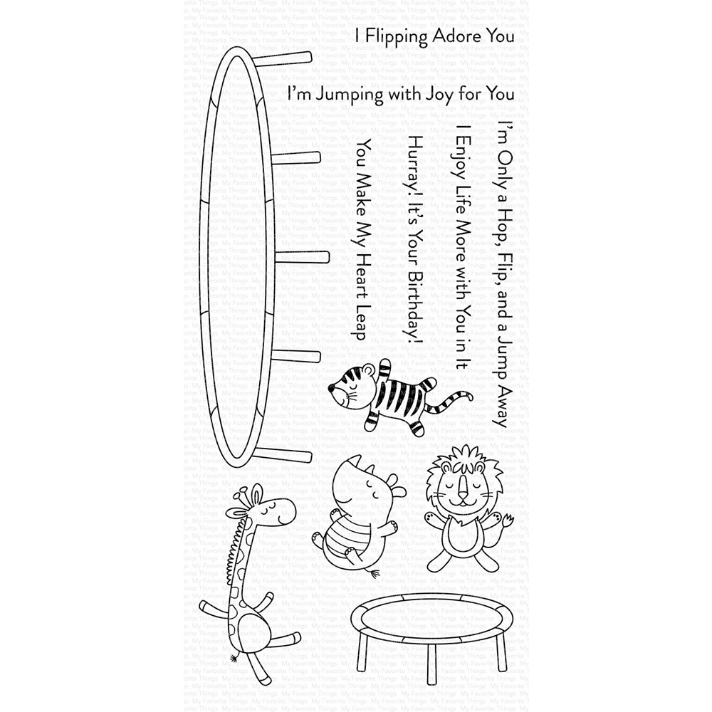 My Favorite Things A HOP FLIP AND A JUMP Clear Stamps CS409 zoom image