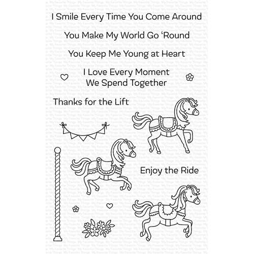 My Favorite Things CAROUSEL HORSES Clear Stamps CS411 Preview Image