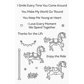 My Favorite Things CAROUSEL HORSES Clear Stamps CS411
