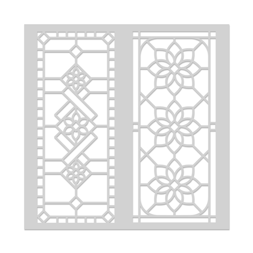 Hero Arts Stencil STAINED GLASS WINDOW SA133 Preview Image