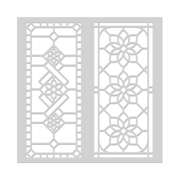 Hero Arts Stencil STAINED GLASS WINDOW SA133