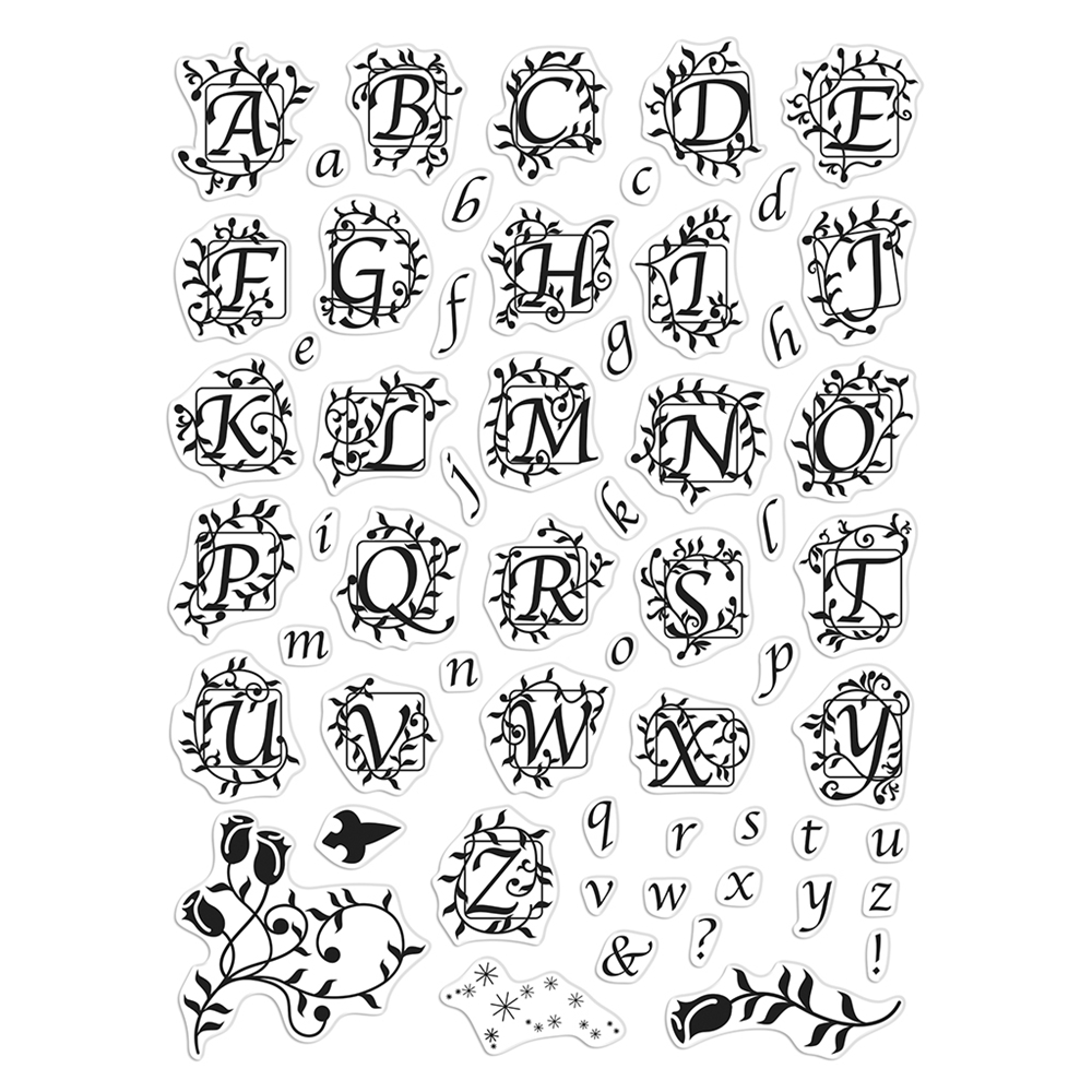 Hero Arts Clear Stamps FAIRYTALE BOOK ALPHABET CM391 zoom image