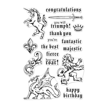 Hero Arts Clear Stamps MAJESTIC BEASTS CM388