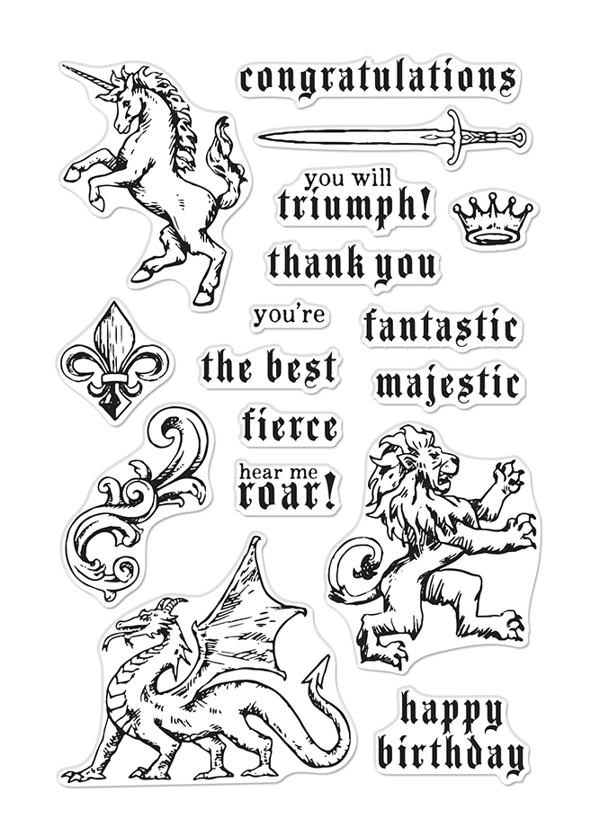 Hero Arts Clear Stamps MAJESTIC BEASTS CM388 zoom image