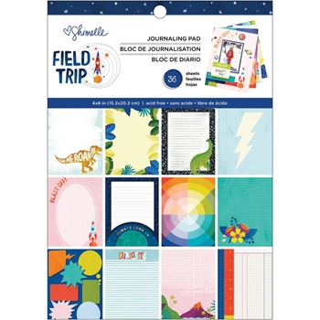 American Crafts Shimelle FIELD TRIP 6x8 Inch Journaling Pad 352206