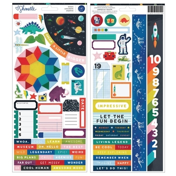 American Crafts Shimelle ACCENTS AND PHRASES Stickers Field Trip 352212
