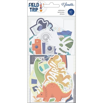 American Crafts Shimelle FIELD TRIP EPHEMERA Die Cut Shapes 352217