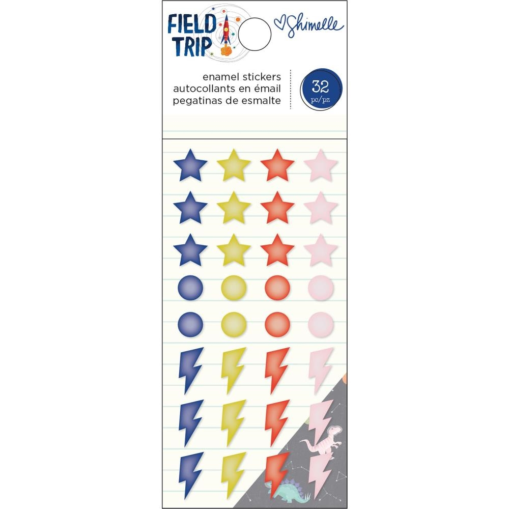 American Crafts Shimelle ENAMEL STICKERS Field Trip 352211 zoom image