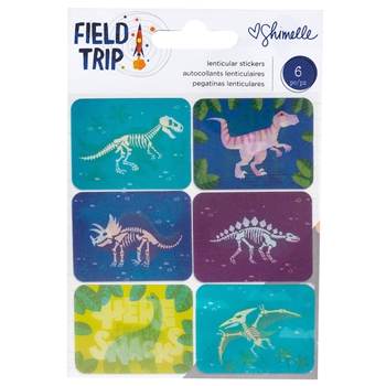 American Crafts Shimelle LENTICULAR STICKERS Field Trip 352214