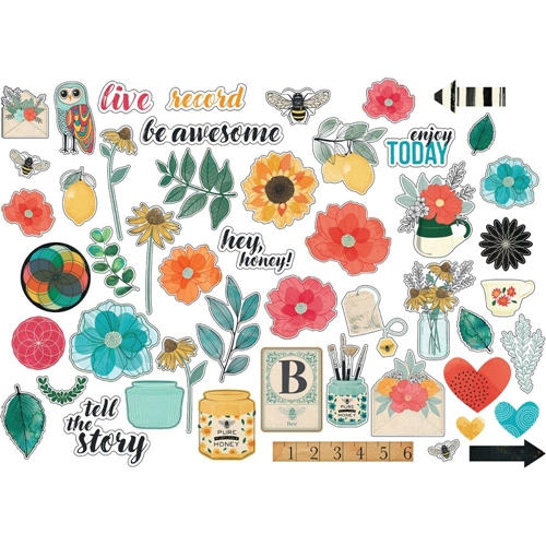 American Crafts Vicki Boutin CARDSTOCK ICONS Wildflower and Honey Ephemera 352262 Preview Image