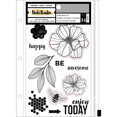 American Crafts Vicki Boutin WILDFLOWER AND HONEY Clear Stamps and Dies 352260 Preview Image