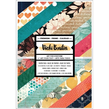 American Crafts Vicki Boutin HONEY AND WILDFLOWER 6x8 Inch Paper Pad 352254