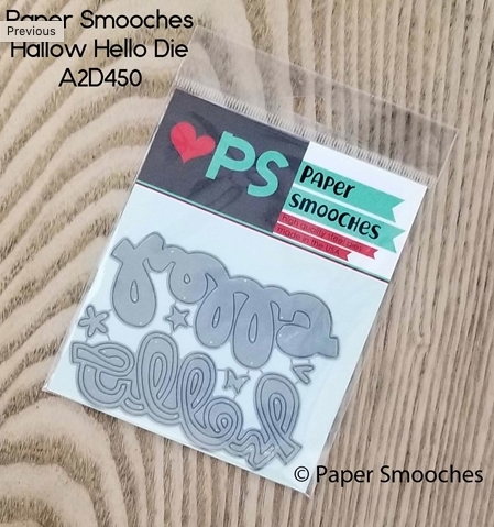 Paper Smooches HALLOW HELLO Dies A2D450 Preview Image