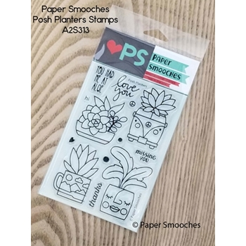 Paper Smooches POSH PLANTERS Clear Stamps A2S313