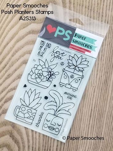 Paper Smooches POSH PLANTERS Clear Stamps A2S313 zoom image