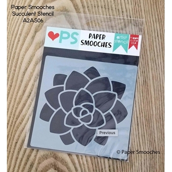 Paper Smooches SUCCULENT Artist Stencil A2AS06