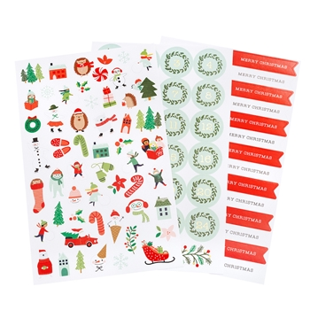 Pebbles Inc. STICKERS Merry Little Christmas 734150