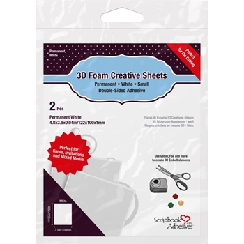 Scrapbook Adhesives THIN WHITE 3D Creative Sheets 01228