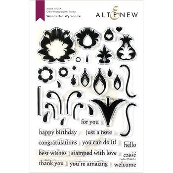 Altenew WONDERFUL WYCINANKI Clear Stamps ALT3431