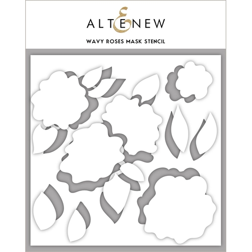 Altenew WAVY ROSES Masked Stencil ALT3428 Preview Image