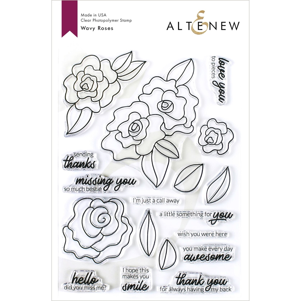 Altenew WAVY ROSES Clear Stamps ALT3426 zoom image