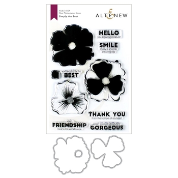 Altenew SIMPLY THE BEST Clear Stamp and Die Bundle ALT3425