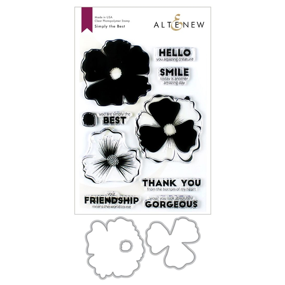 Altenew SIMPLY THE BEST Clear Stamp and Die Bundle ALT3425 zoom image