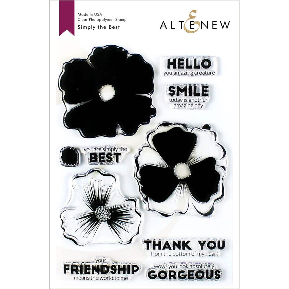 Altenew SIMPLY THE BEST Clear Stamps ALT3423 zoom image