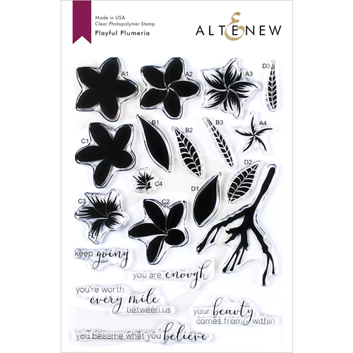 Altenew PLAYFUL PLUMERIA Clear Stamps ALT3418 Preview Image