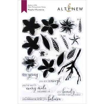 Altenew PLAYFUL PLUMERIA Clear Stamps ALT3418