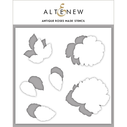 Altenew ANTIQUE ROSES Masked Stencil ALT3412 Preview Image
