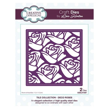 Creative Expressions DECO ROSES Tile Collection Dies cedlh1067