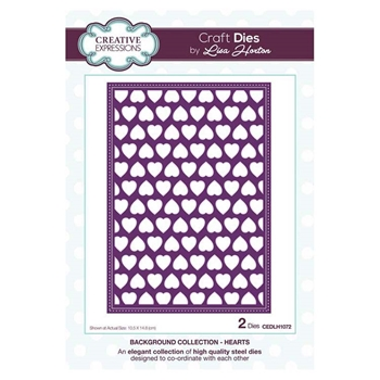 Creative Expressions HEARTS Background Collection Dies cedlh1072