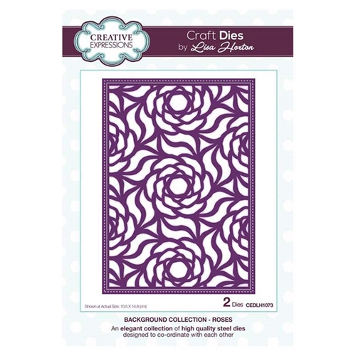 Creative Expressions ROSES Background Collection Dies cedlh1073* Preview Image