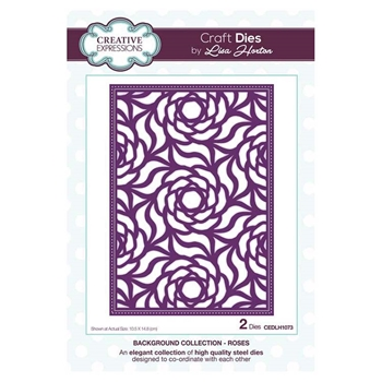 Creative Expressions ROSES Background Collection Dies cedlh1073