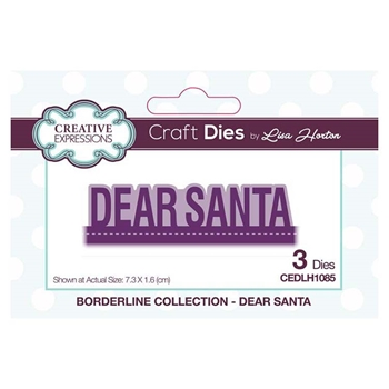 Creative Expressions DEAR SANTA Borderline Collection Dies cedlh1085