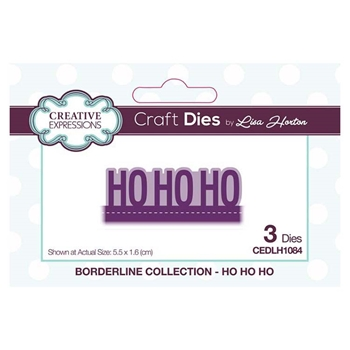 Creative Expressions HO HO HO Borderline Collection Dies cedlh1084