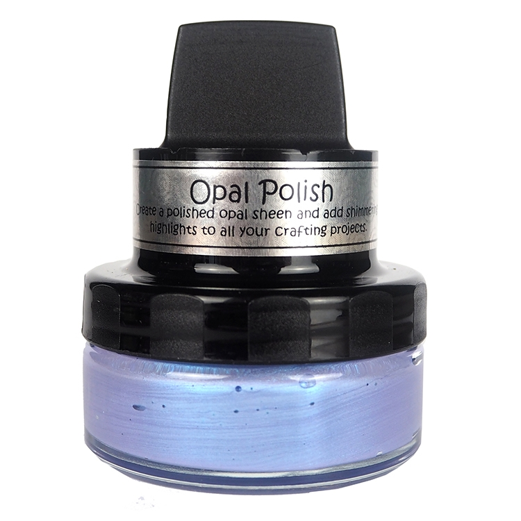 Cosmic Shimmer BLUE WISTERIA Opal Polish With Applicator csopblue zoom image