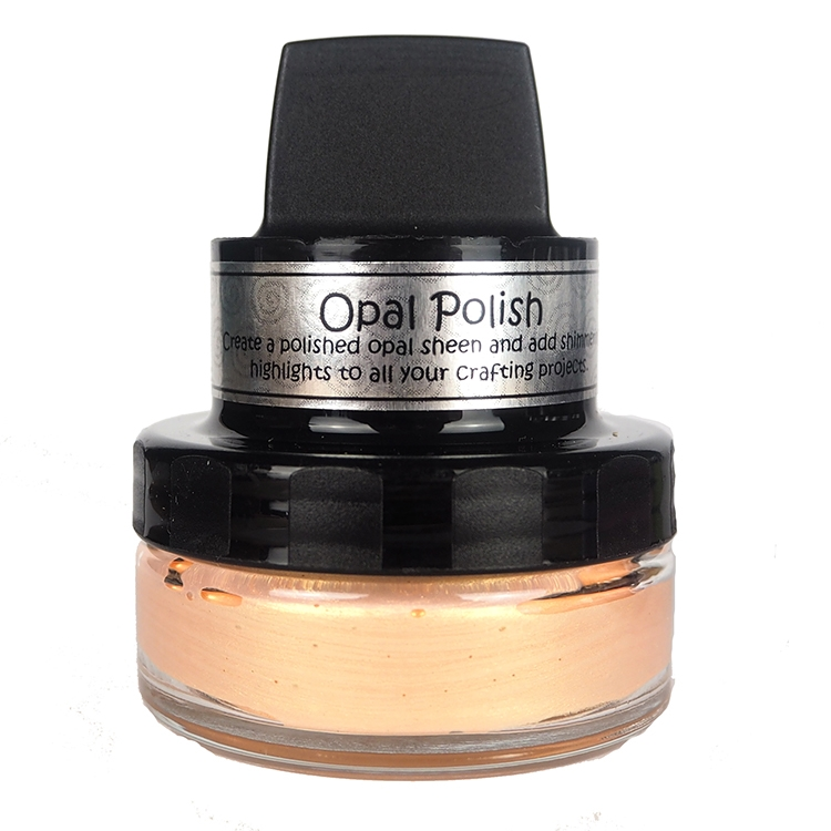 Cosmic Shimmer GILDED APRICOT Opal Polish With Applicator csopapricot zoom image