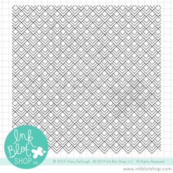 Ink Blot Shop Clear Stamp Set DIAMOND DECO BACKGROUND inbl069