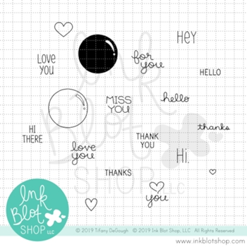 Ink Blot Shop Clear Stamp Set FLAIR GREETINGS inbl070