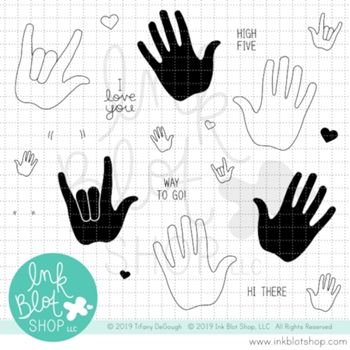 Ink Blot Shop Clear Stamp Set HAND IT TO YOU inbl071
