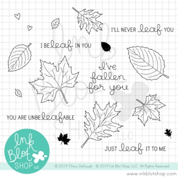 Ink Blot Shop Clear Stamp Set LEAF IT TO ME inbl072