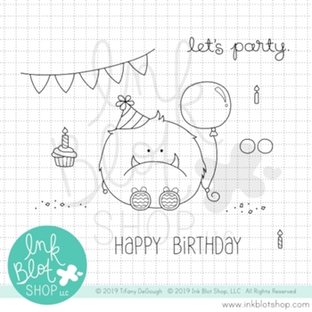 Ink Blot Shop Clear Stamp Set PARTY MONSTER inbl073