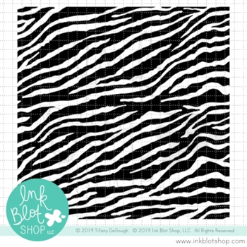 Ink Blot Shop Clear Stamp Set ZEBRA PRINT BACKGROUND inbl078