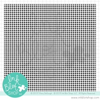 Ink Blot Shop Clear Stamp Set MICRO GINGHAM BACKGROUND inbl079