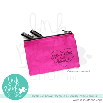 Ink Blot Shop Zipper Pouch YOU ARE SO LOVED ibzp004