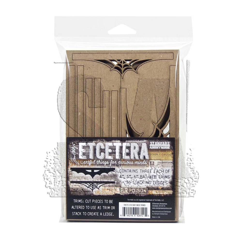 Tim Holtz Etcetera BAT WEB TRIMS Thickboards ETC014 zoom image